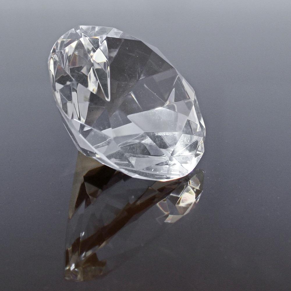 Dejlig Krystal Glas Diamant 80 x 50 mm HC-96